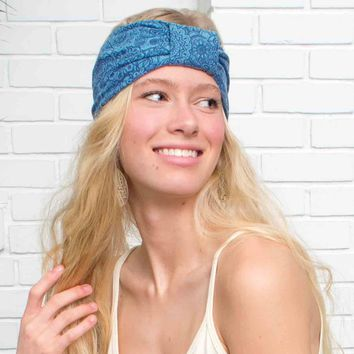 NEW! Mandala Knotted Headband in Organic Cotton