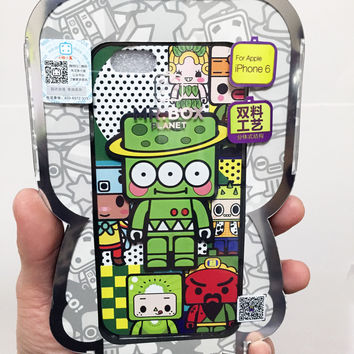 Mr.Box Planet Iphone 6 Case - Embossed 3D Cute Alien