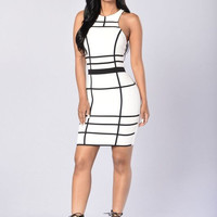 Patricia Dress - White/Black