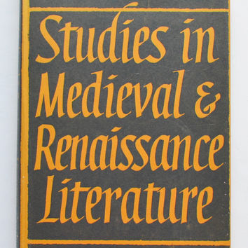 Studies in Medieval and Renaissance Literature by C.S. Lewis ; collected by Walter Hooper