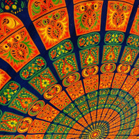Hippie Wall Tapestries, Mandala Bohemian Wall Hanging, Queen Size Cotton Bed Cover, Colorful Pattern, Picnic Blanket, Dorm Tapestry