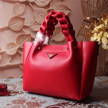 Prada Women Leather Shoulder Bag Satchel Tote Bag Handbag Shopping Leather Tote Crossbody Satchel Shouder Bag created