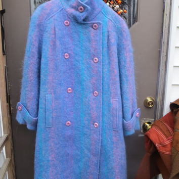 fab    Vintage  60s-70S Avoca handweavers  mohair wool  coat handmade  in Ireland  size   small