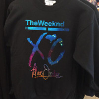 XO The Weeknd Drake YMCMB Galaxy Nebula crew neck sweatshirt pullover long sleeved