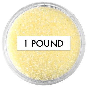 Pastel Yellow Sanding Sugar 1 LB