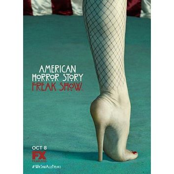 American Horror Story FREAK SHOW poster Metal Sign Wall Art 8in x 12in