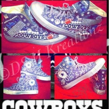 CREYONB Custom Dallas Cowboys Converse All Star Chuck Taylor Shoes 03e4defc9ea0