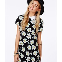 Missguided - Jacuba Collared Dress In Floral Print