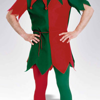 Christmas Elf Costume Tights Unisex
