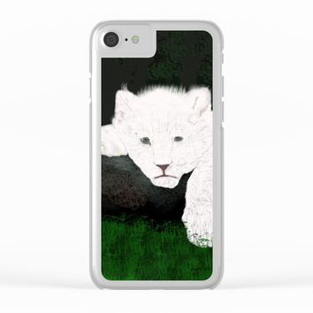 Lion Clear iPhone Case by pukis
