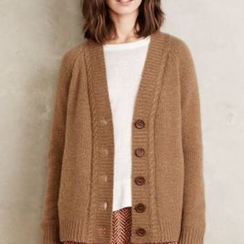 Moth Ida Cashmere Cardigan in Moss Size: