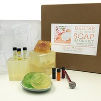 Deluxe DIY Organic Glycerine Soap Making Kit -Learn how to make home made soap