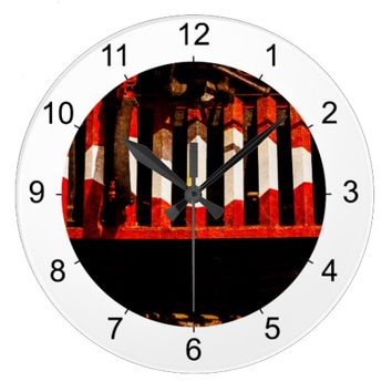 Cow Catcher Large Clock
