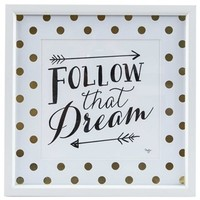 Follow That Dream Framed Wall Art | Shop Hobby Lobby