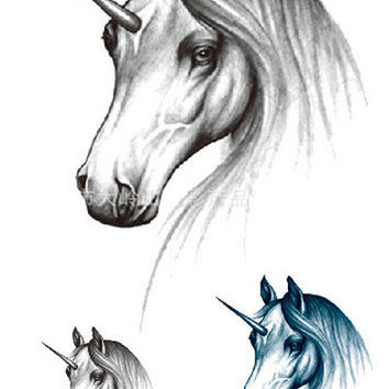 Free Shipping Unicorn Image Waterproof Temporary Tattoo Stickers Body Art for Sexy Girl Decoration