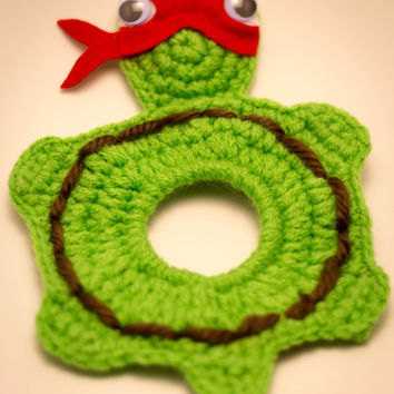 Handmade Crocheted Ninja Turtle Lens Buddy Red
