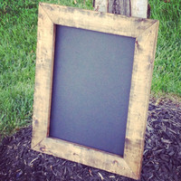 """Large Chalkboard - Choose magnetic or non magnetic - 16x20""""  - Blank chalkboard in Rustic wood frame"""