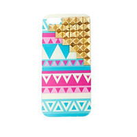 Studded Aztec Phone Case: Charlotte Russe