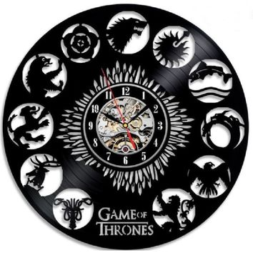 Game of Thrones 3D Record Wall Clock