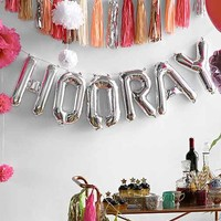 Hooray 16 Inch Party Balloon Kit- Silver One