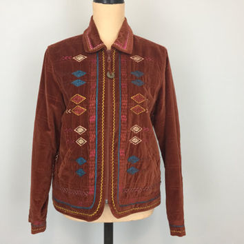 Womens Tribal Clothing Southwestern Clothing Aztec Native American Womens Jackets Zip Up Rust Coldwater Creek Medium Petite Womens Clothing