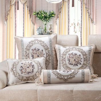 Luxury European French Country Home Sofa Cushion Cover