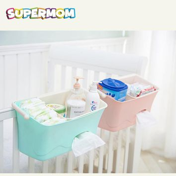 Baby Bed Hanging Storage Box Infant Bedding Crib Diaper Bag Bedside Organizer Toy Diaper Pocket for Crib Bedding Set Baby Stuff