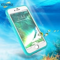 KISSCASE Waterproof Phone Case For iPhone 8 7 6s 6 Plus 360 Full Protective Underwater Back Cover Cases For iPhone 8 7 6 Capinha