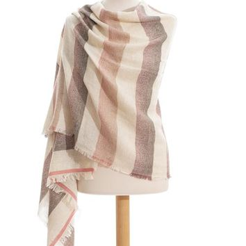 Sunset Crush wool and cotton stole scarf