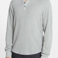 Men's James Perse Slub Thermal Henley,
