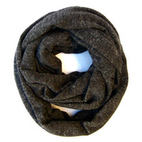Deep Grey Winter Infinity Scarf Soft Cozy Eternity Scarf Tube Scarf Warm Versatile Winter Womens Teen Fashion Scarf