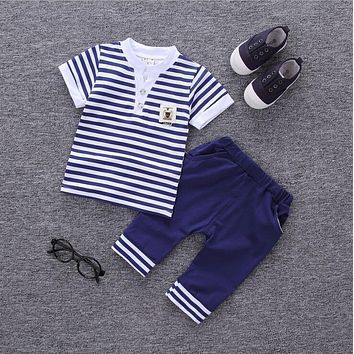 Baby Boy Clothes Summer 2017 Newborn Baby Boys Clothes Set Cotton Baby Clothing Suit (Shirt+Pants) Infant Clothes Set a12