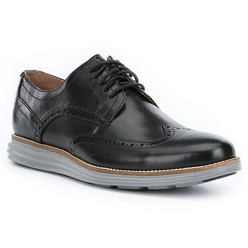 Men's Original Grand Wingtop Oxford in Black and Ironstone by Cole Haan