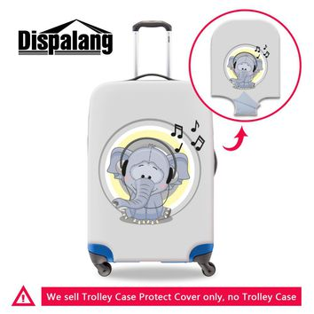 Dispalang Elephant Print Suitcase Protect Cover Cartoon Animal Anti-scratch Luggage Cover With Zipper Closure Travel Accessories