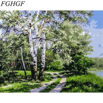 FGHGF Frameless Seascape DIY Painting By Numbers Acrylic Paint On Canvas Hand Painted Oil Painting Wall Art