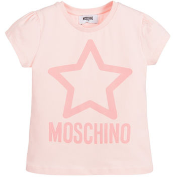 Moschino Girls Pink Glittery Star T-shirt