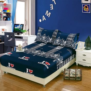 Home textile 3pcs/set bed sheet +two pillowcase bedding set twin full queen size mattress cover bed clothes bedspread for home