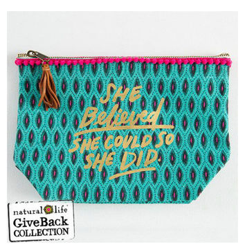 Natural Life Canvas Pouch - She Believed