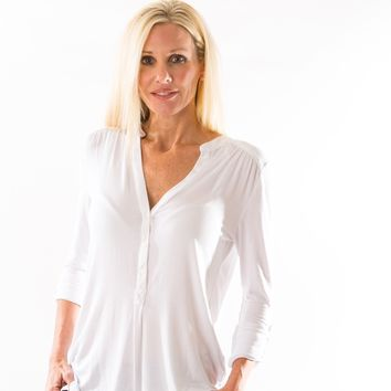 Elena Blouse (White) by Amour Vert