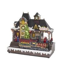 Kurt Adler Christmas Musical Village with Moving Train-C5613