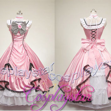 Black Butler Kuroshitsuji Ciel Cosplay Costume Full Set Tailor Made COS57