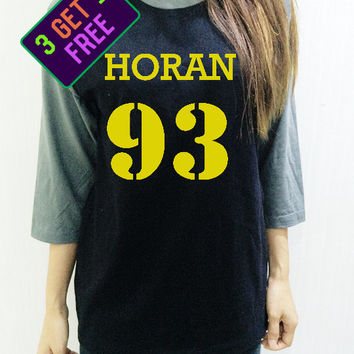One Direction Clothing Shirt Niall Horan 93 Tee Yellow Baseball Men Women Shirt Unisex Funny Tshirt Raglan 3/4 Long Sleeve