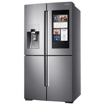 Samsung 27.9 cu. ft. Family Hub 4-Door Flex French Door Refrigerator in Stainless Steel-RF28M9580SR - The Home Depot