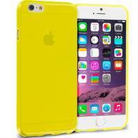 Yellow Transparent TPU Rubber Skin Case Cover for Apple iPhone 6 Plus 6S Plus (5.5)