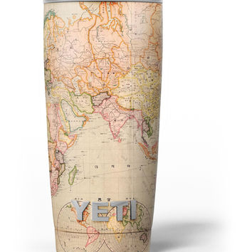 The Eastern World Map Yeti Rambler Skin Kit