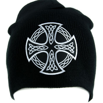 Celtic Iron Cross Beanie Alternative Style Clothing Knit Cap Sons of Anarchy Biker