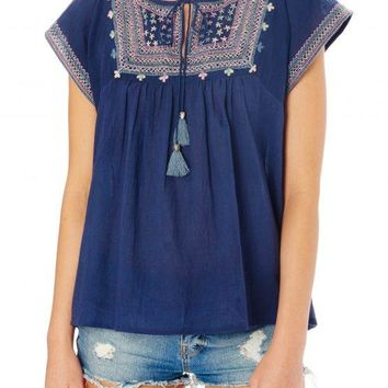Gaia Embroidered Top