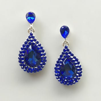 Brilliant Sapphire Earrings