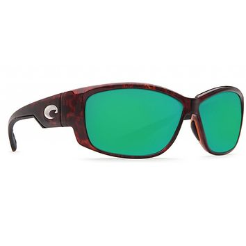 Luke Tortoise Sunglasses with Green Mirror 580P Lenses by Costa Del Mar