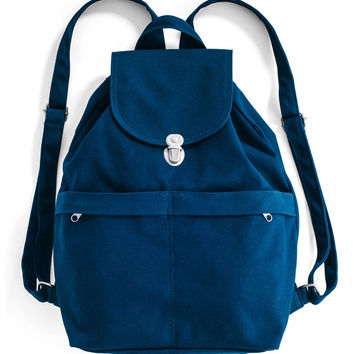 Canvas Backpack: Indigo